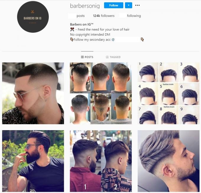 120K Barber Instagram Account for Sale