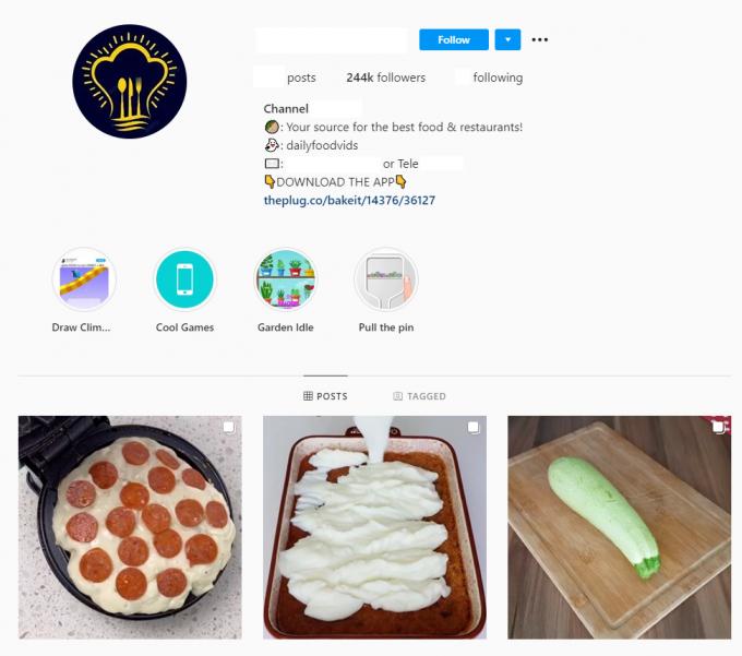 250K Food Instagram Account