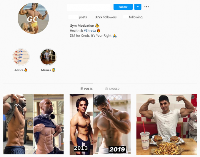 370K Male Gym Fitness Account for Sale