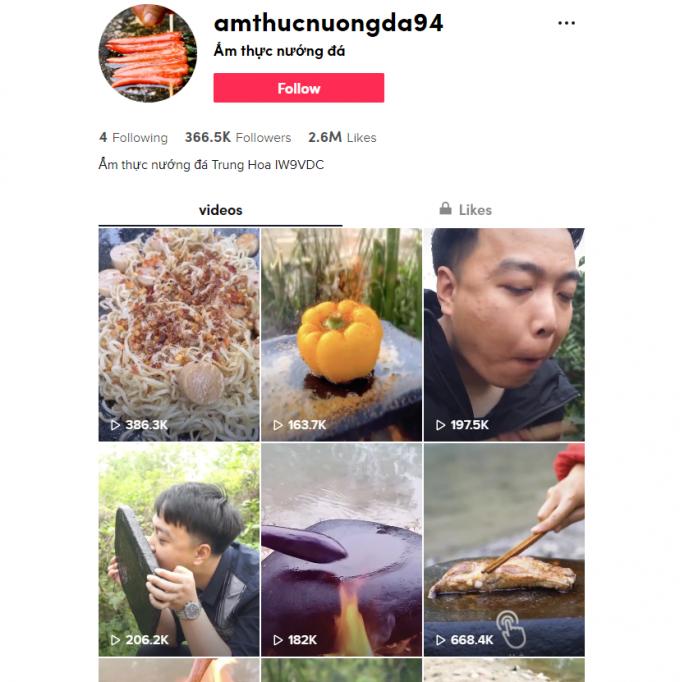350K Food TikTok Account for Sale