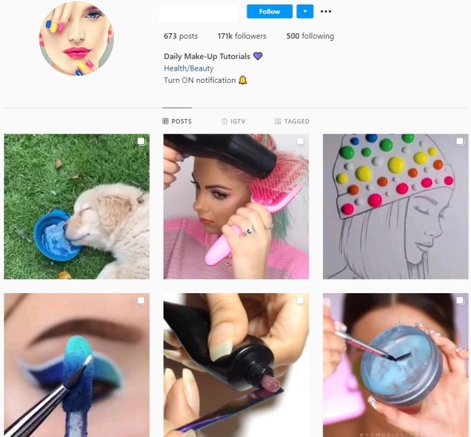 170K Beauty Makeup Instagram Account for Sale