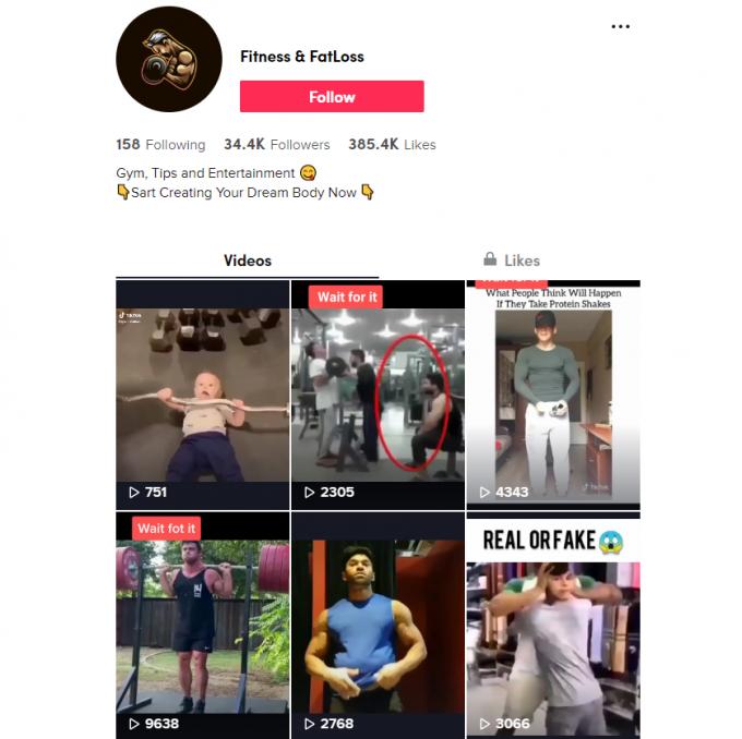30K Fitness TikTok Account for Sale