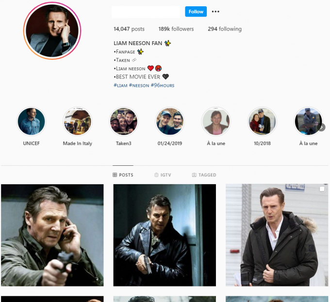 180k Hollywood Actor Instagram Account for Sale