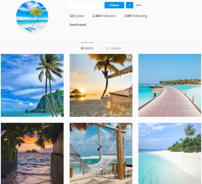 2K Travel Instagram Account for Sale