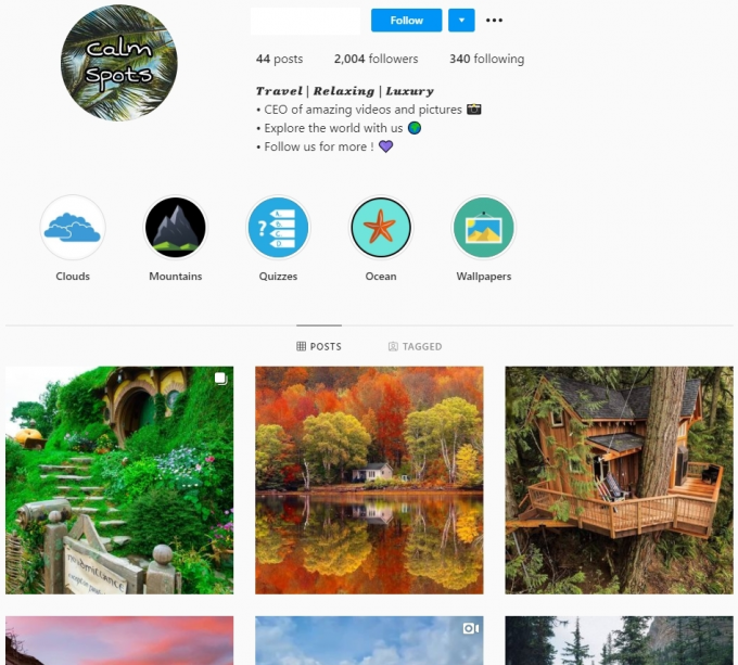 2K Travel Nature Instagram Account for Sale