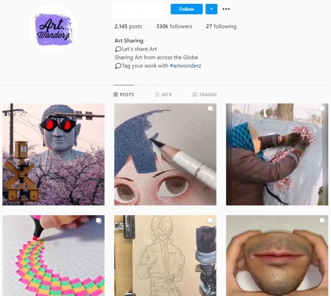 330K Art Instagram Account for Sale