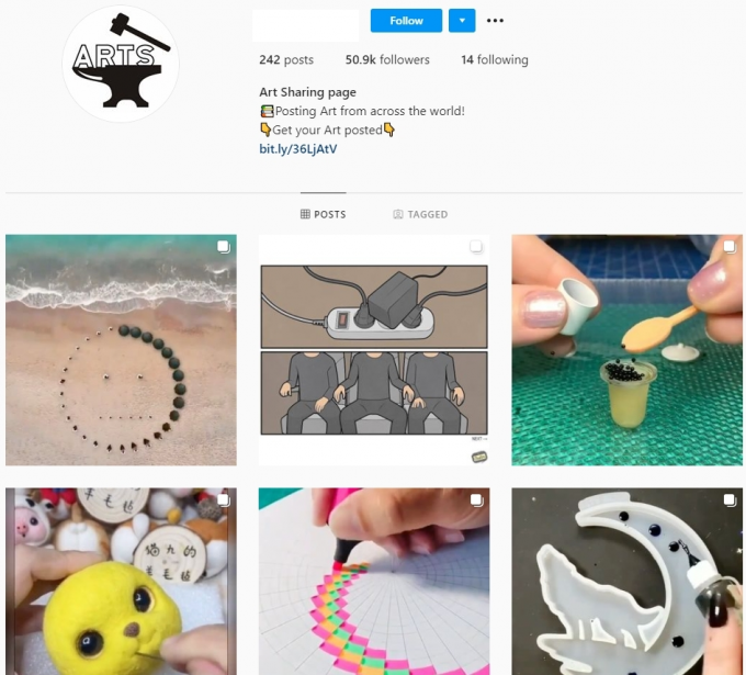 50K Art Instagram Account for Sale