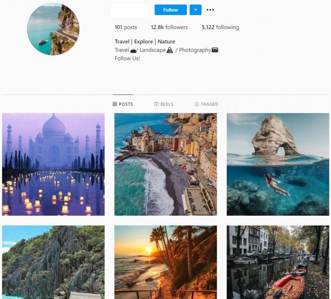 12.8K Travel Explore Nature Instagram Account for Sale