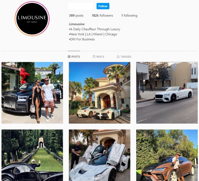 180K Luxury Instagram Account (With Rare handle) For Sale