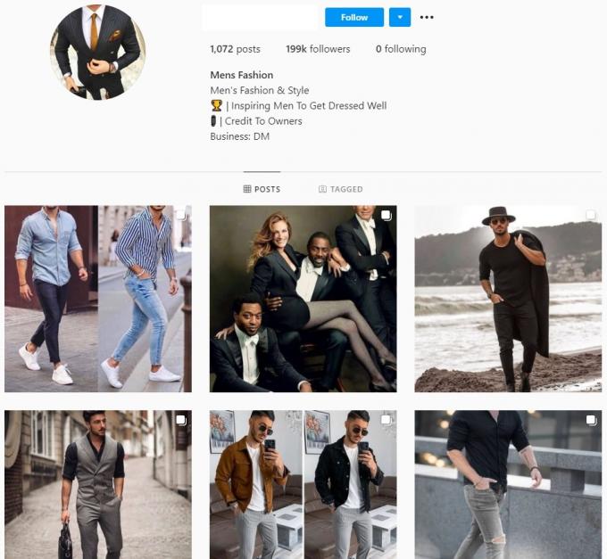 200K Mens Fashion Instagram Account for Sale