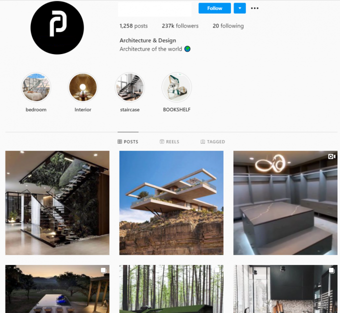 230K Architecture Design Instagram Account for Sale