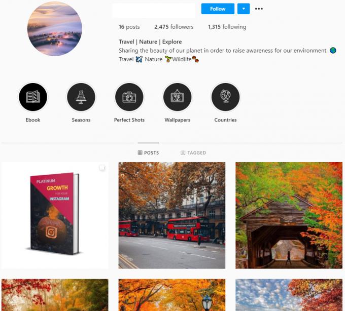 2K Travel Nature Explore Instagram Account for Sale