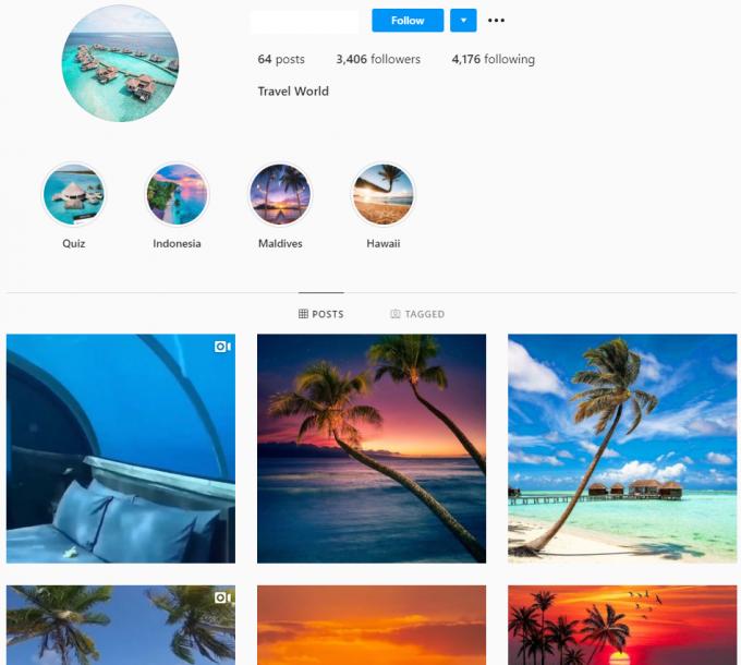3.4K Travel World Instagram Account for Sale
