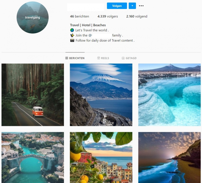 4.3k Travel Hotel Beaches Instagram Account for Sale