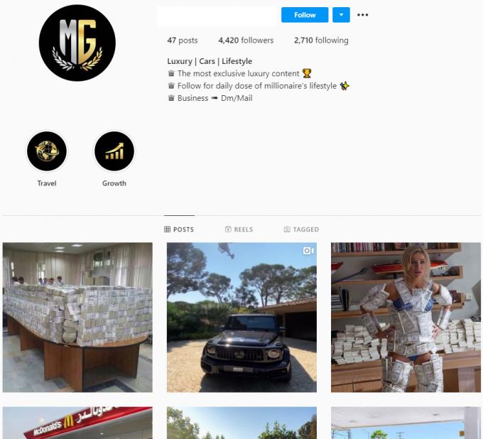 4.4k Luxury Lifestyle Instagram Account for Sale
