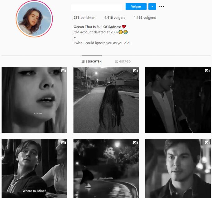 4.4k Sad Emotions Music Instagram Account for Sale