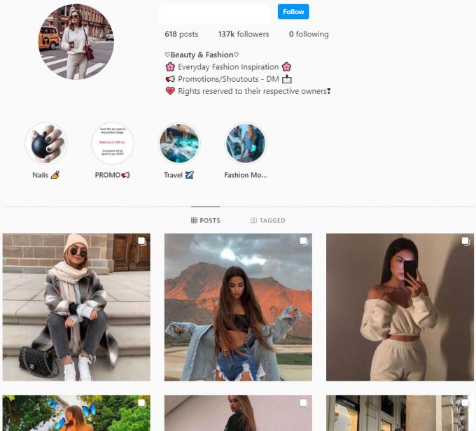 130K Fashion Instagram Account for Sale