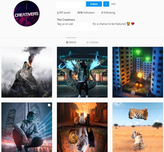 300K Creative Art Instagram Account for Sale