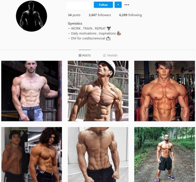 3k Men Fitness Instagram Account for Sale