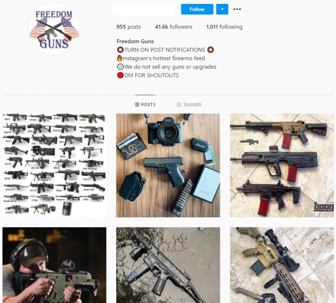 41k Weapons Guns Instagram Account for Sale