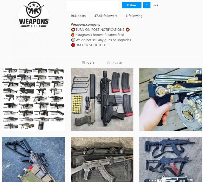 47K Weapons Company Instagram Account for Sale