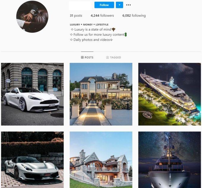 4k Luxury Instagram Account for Sale