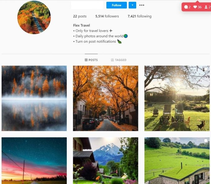 5K Travel Lovers Instagram Account for Sale