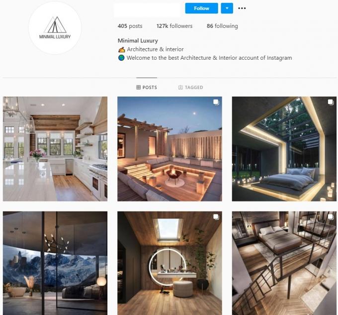 125k Architecture Interior Instagram Account for Sale