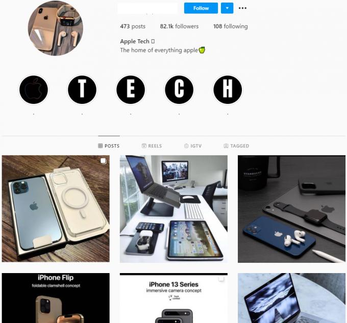 80K Apple Tech Instagram Account for Sale