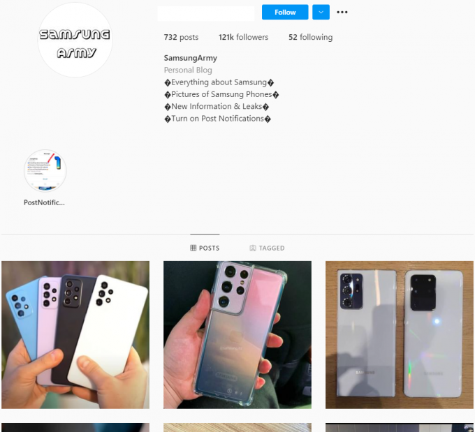 120K Samsung Tech Instagram Account for Sale