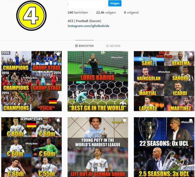 20K Football Soccer Instagram Account for Sale
