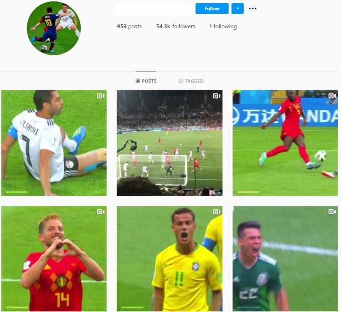 50K Soccer Football Instagram Account for Sale