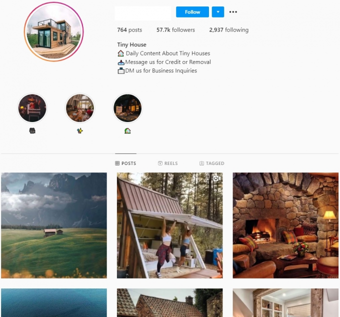 57K Tiny House Instagram Account for Sale