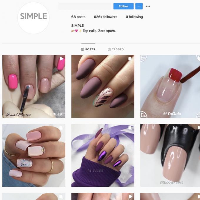 620K Makeup Nails Instagram Account for Sale