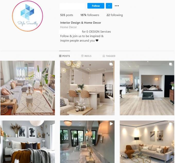 180k Interior Design Instagram Account for Sale