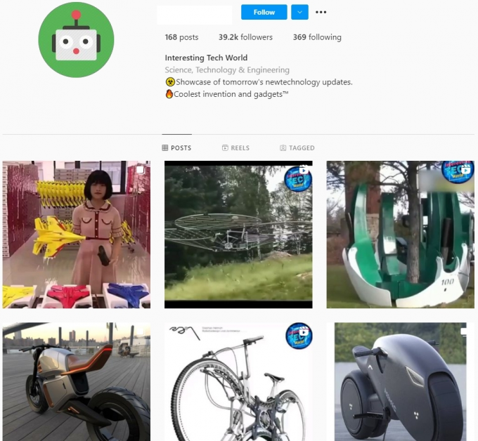 39K Tech World Instagram Account for Sale