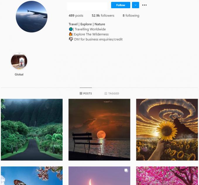 50K Travel Explore Nature Instagram Account for Sale