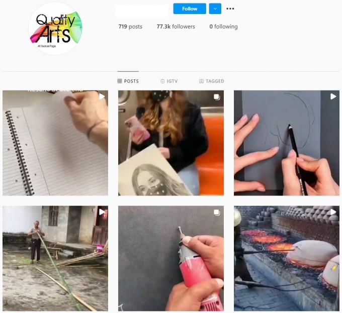 70K Quality Art Instagram Account for Sale