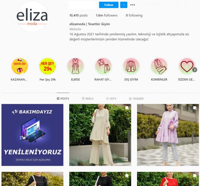 1.6M Turkish Fashion Instagram Account for Sale