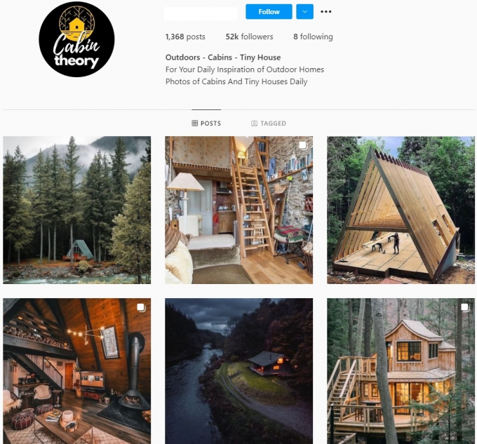 50K Architecture / Tiny Houses Instagram Account for Sale