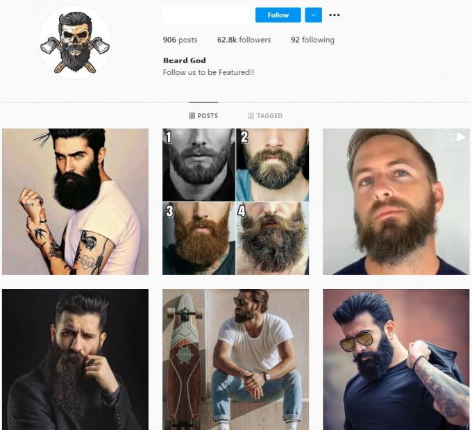 60K Beard Instagram Account for Sale