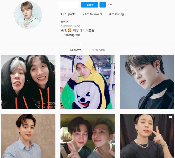 7.6M BTS Fan Instagram Account for Sale