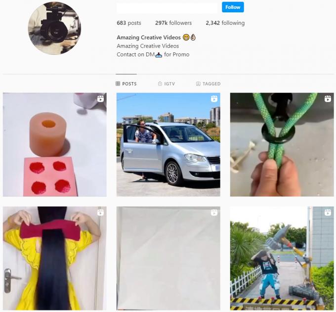 290K Viral Videos Instagram Account for Sale
